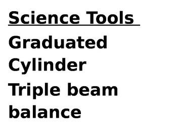 7th Grade Texas Science Vocabulary (by unit inc. TEKS) LAR