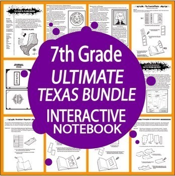 7th Grade Texas ULTIMATE Interactive Notebook Bundle