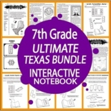 7th Grade Texas History Interactive Bundle (Geography, Government, AND History!)