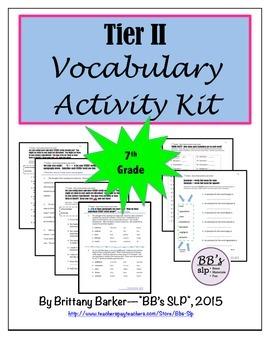 7th Grade Tier 2 Vocabulary Activity Kit