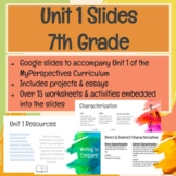 7th Grade Unit 1 Slides for MyPerspectives Curriculum