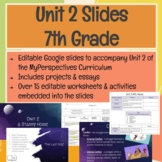 7th Grade Unit 2 Slides for MyPerspectives Curriculum