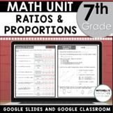 7th Grade Unit 3 Percents, Ratios, Proportions, and Similar Figures Using Google
