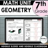 7th Grade GEOMETRY Math Unit Using Google for Distance Learning