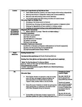 7th Grade Unit Plan
