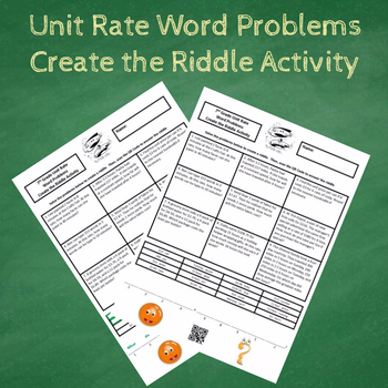 7th Grade Unit Rate Word Problems Create The Riddle Activity Tpt