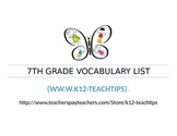 7th Grade Vocabulary (>300)