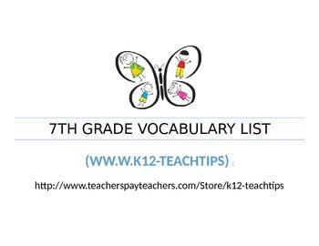 7th Grade Vocabulary (>300)