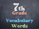 7th Grade Vocabulary Words