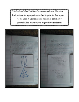 7th Grade Volume Lesson: FOLDABLE & Homework