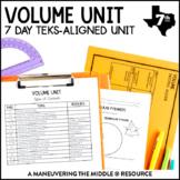 Volume Unit: 7th Grade Math TEKS 7.8A, 7.8B, 7.9A