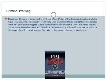 7th Grade English Lesson Plans - Homecoming - FBI Profiling of Mr. Rudyard