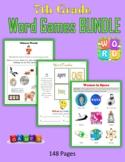 7th Grade Word Games BUNDLE (Print + Digital Activities)