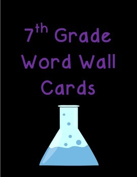 7th Grade Word Wall Cards Bundle (all units included)