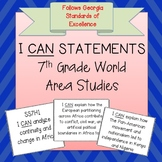 7th Grade World Area Studies I CAN Statements - Georgia
