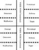 7th Grade Worth History Vocabulary foldables for Interactive notebook Week 1-29