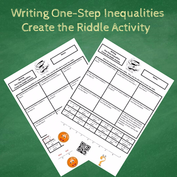7th Grade Writing One-Step Inequalities Create the Riddle Activity