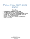 7th Grade Writing STAAR BINGO REVIEW