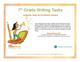 7th Grade Writing Tasks - Authentic Tasks for the Modern Student