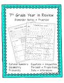 7th Grade Year in Review
