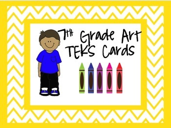 7th Grade art TEKS cards