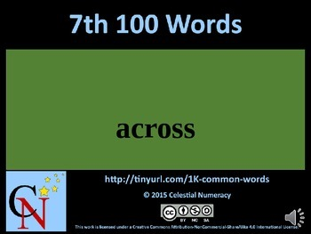 7th Hundred Words with Audio - 1,000 Word Fluency Program (Free)