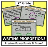 (7th) Writing Proportions in a PowerPoint Presentation