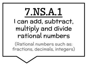 7th Math CCSS Posters