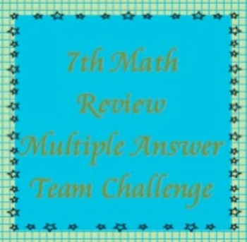 7th Math Review, Multiple Answer Challenge, TCAP Review (flipchart)