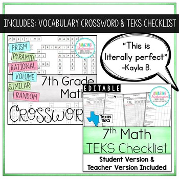 7th Math STAAR Review & Prep Bundle
