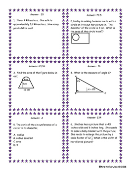 7th Math STAAR review Category 3