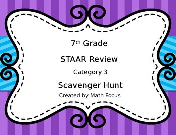7th Math Scavenger Hunt over Geometry and Measurement--Category 3 STAAR