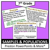 (7th) Samples and Populations in a PowerPoint Presentation