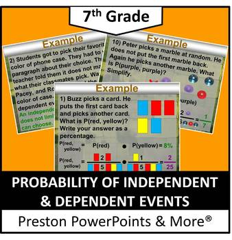 (7th) Probability Independent and Dependent Events in a PowerPoint Presentation