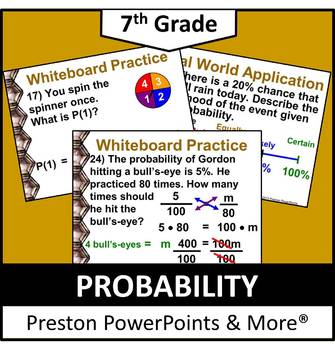 (7th) Probability in a PowerPoint Presentation