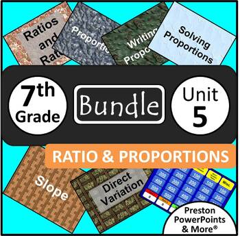 (7th) Ratios and Proportions {Bundle} in a PowerPoint Presentation