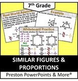 (7th) Similar Figures and Proportions in a PowerPoint Presentation