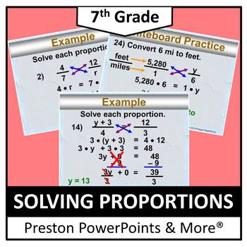 (7th) Solving Proportions in a PowerPoint Presentation
