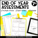 7th Grade Math Year-End Assessments:  CCSS