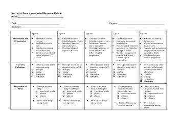 argumentative essay rubric grade 6
