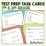 7th and 8th Grade Math Test Prep Task Cards (Common Core Aligned)