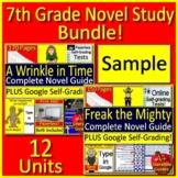 7th and 8th Grade Novel Study Bundle - FREE SAMPLE!