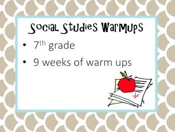 7th grade: 9 weeks of warm-ups