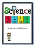 7th grade Common Core Checklist- Science (based on Ohio)
