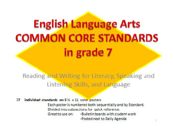 7th grade Common Core English Language Standards
