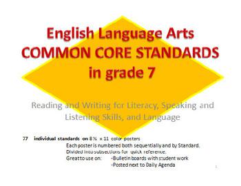 7th grade Common Core English Language Standards