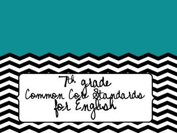 7th grade Common Core Standards