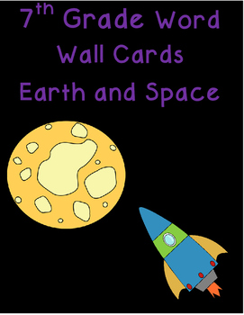 7th grade Earth and Space word wall cards
