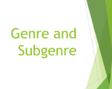 7th grade Genre and Subgenre Lesson