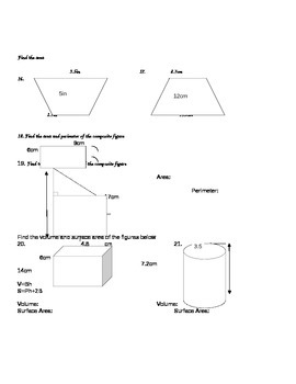 7th grade Geometry Study Guide